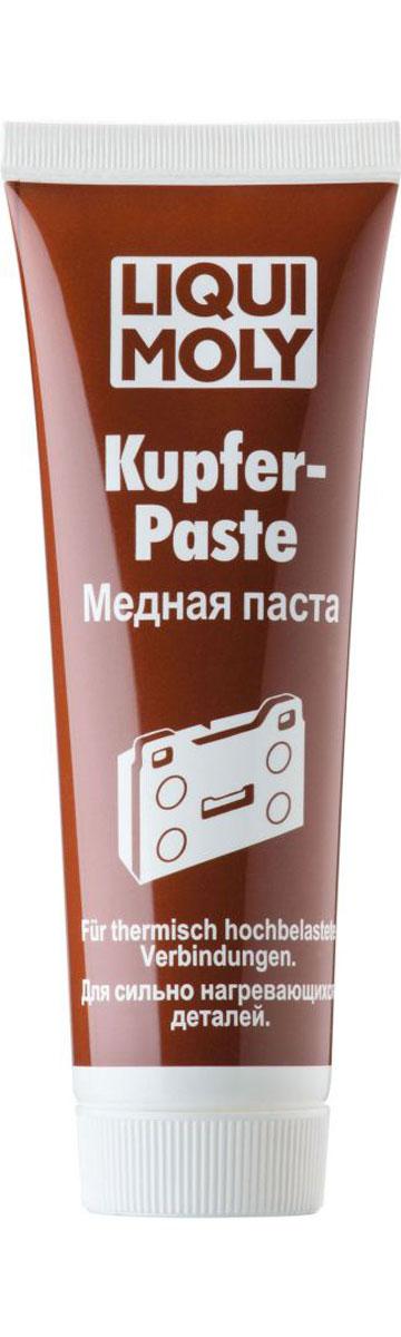 Паста медная Liqui Moly Kupfer-Paste, 0,1 л7579Liqui Moly Kupfer-Paste применяется для обработки тыльной стороны тормозных колодок, свечей зажигания, деталей системы выхлопа и резьбовых соединений, работающих под действием высокой температуры (до 1100°С) и нагрузки. Предотвращает коррозию и заедание перечисленных деталей, а также прикипание шпилек выпускного коллектора, колесных болтов и т. п. Облегчает разборку механизма после длительной эксплуатации. Особенности: Обладает высокой температурной стойкостью. Имеет очень высокую адгезию, и прочность при действии центробежных нагрузок. Показывает высокую стойкость к воздействию соленой и горячей воды, в том числе под давлением. Противодействует передаче колебаний и возникновению посторонних звуков. Обеспечивает защиту поверхности контакта от образования коррозии. Выдерживает высокое давление. Надежно смазывает и разделяет трущиеся детали. Медная паста универсальна в применении. Основа:минеральное масло и Li-12...