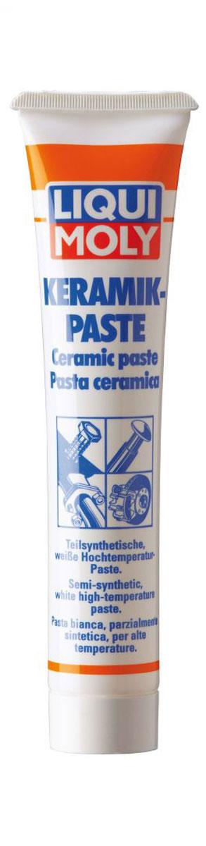Паста керамическая Liqui Moly Keramik-Paste, 50 г3418Liqui Moly Keramik-Paste применяется для обработки тыльной стороны тормозных колодок, свечей зажигания, деталей системы выхлопа и резьбовых соединений, работающих под действием высокой температуры (до 1400°С) и нагрузки. Предотвращает коррозию и заедание перечисленных деталей, а также прикипание шпилек выпускного коллектора, колесных болтов. Облегчает разборку механизма после длительной эксплуатации. Дополнительно рекомендуется использовать в условиях химически агрессивной среды. Особенности: Отличается высочайшей температурной стойкостью. Химически инертна, нейтральна практически ко всем уплотнительным материалам. Не токсична. Имеет очень высокую адгезию, и прочность при действии центробежных нагрузок. Демонстрирует высокую стойкость к воздействию соленой и горячей воды, в том числе под давлением. Противодействует передаче колебаний и возникновению посторонних звуков. Обеспечивает защиту поверхности контакта от образования...