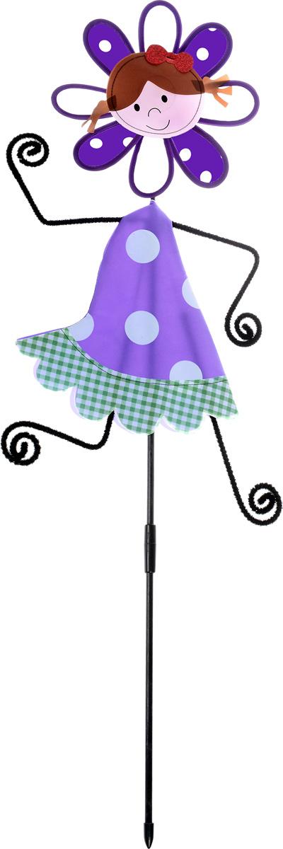 Декоративная фигура-вертушка Village People Веселая девочка, цвет: фиолетовый, высота 87 см66925_фиолетовыйВетряная фигурка-вертушка Village People Веселая девочка, изготовленная из нейлона и пластика, это не только игрушка, но и замечательный способ отпугнуть птиц с грядок. Изделие выполнено в виде девочки и располагается на палочке. Яркий дизайн изделия оживит ландшафт сада или огорода. Высота: 87 см. Диаметр вертушки: 21 см.