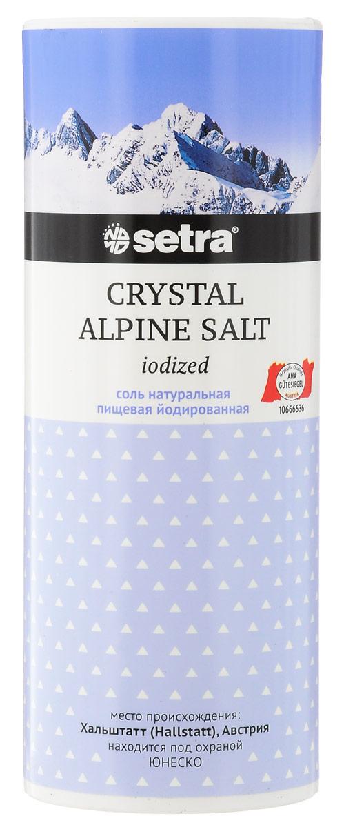 Setra Crystal Alpine соль каменная йодированная, 500 г