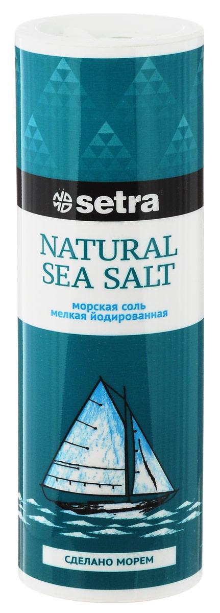 Setra соль морская мелкая йодированная, 250 г бте001