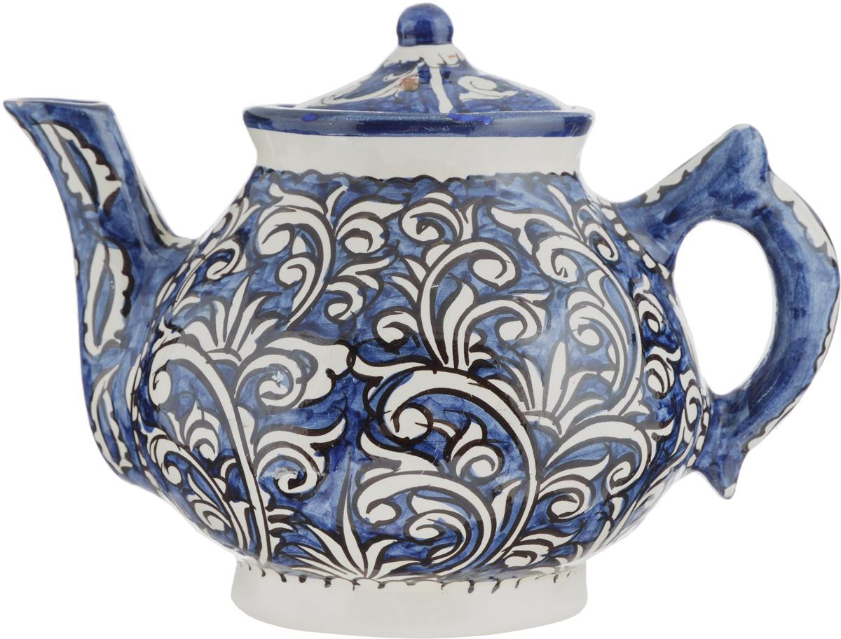 Чайник заварочный Sima-land Риштан, 700 мл1224579Заварочный чайник Sima-land Риштан изготовлен из высококачественной глазурованной керамики и оформлен национальной узбекской росписью. Такой чайник идеально подойдет для заваривания чая. Он хорошо держит температуру, что способствует более полному раскрытию цвета, аромата и вкуса чайного букета. Изделие прекрасно дополнит сервировку стола к чаепитию и станет его неизменным атрибутом. Диаметр чайника (по верхнему краю): 8,2 см. Высота чайника (без учета крышки): 12 см.