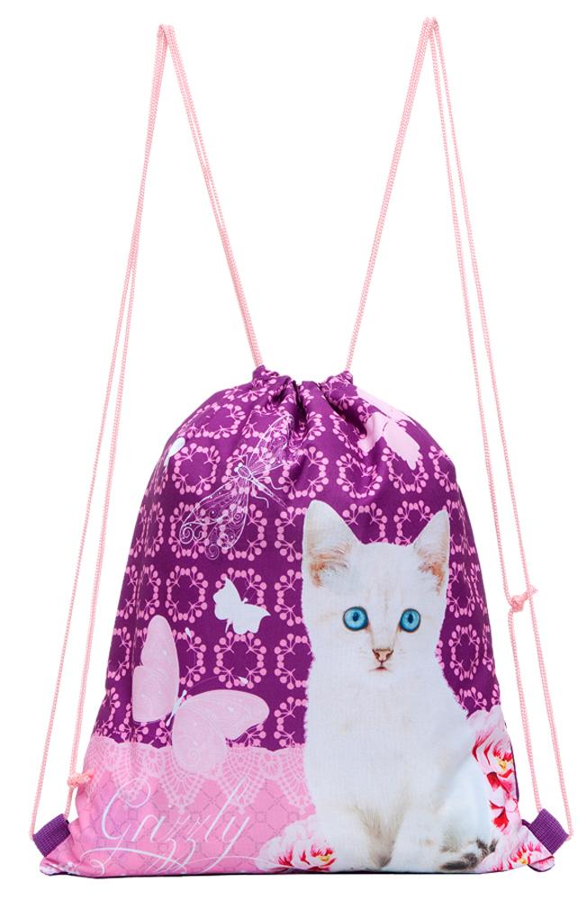 Grizzly Мешок для обуви цвет фиолетовый OM-678-1/1
