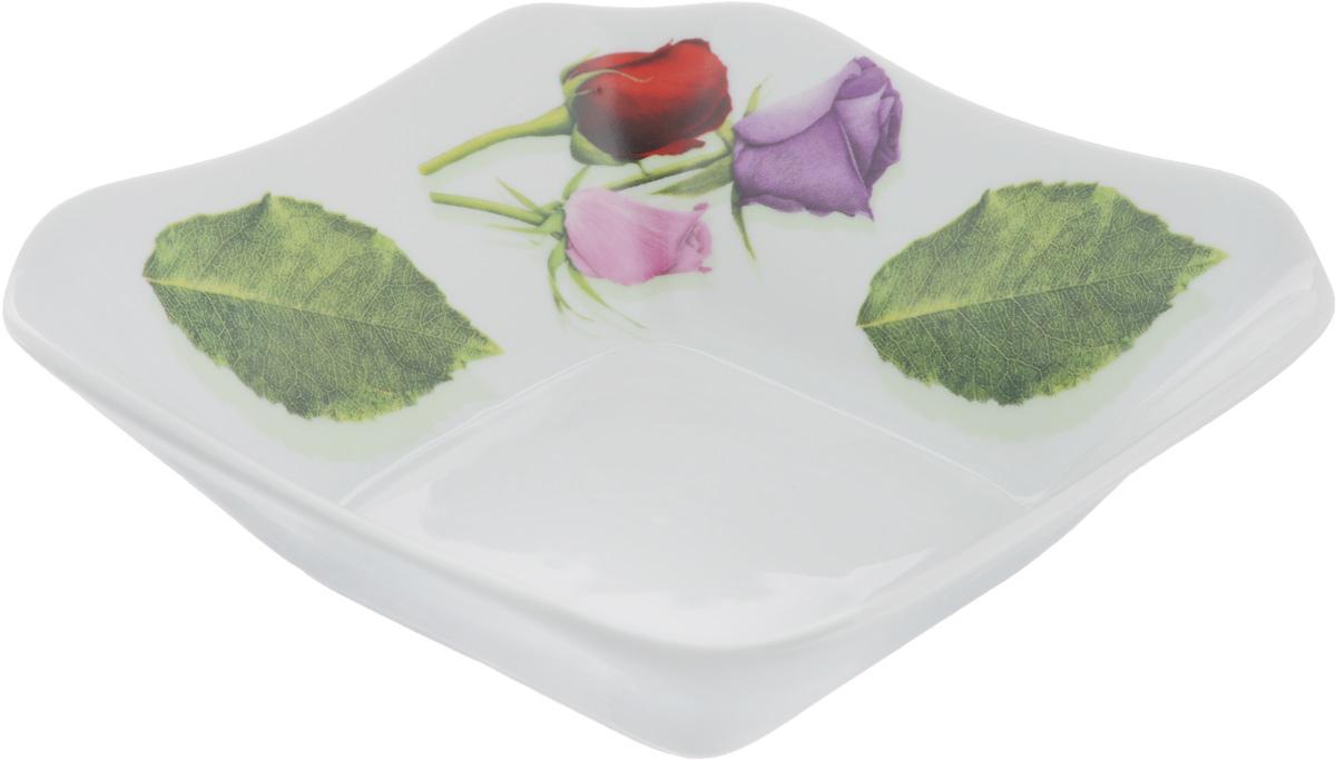 Салатник Королева цветов, 450 мл507857Элегантный салатник Королева цветов, изготовленный из высококачественного фарфора, прекрасно подойдет для подачи различных блюд: закусок, салатов или фруктов. Такой салатник украсит ваш праздничный или обеденный стол, а оригинальное исполнение понравится любой хозяйке. Размер салатника: 16 х 16 см.