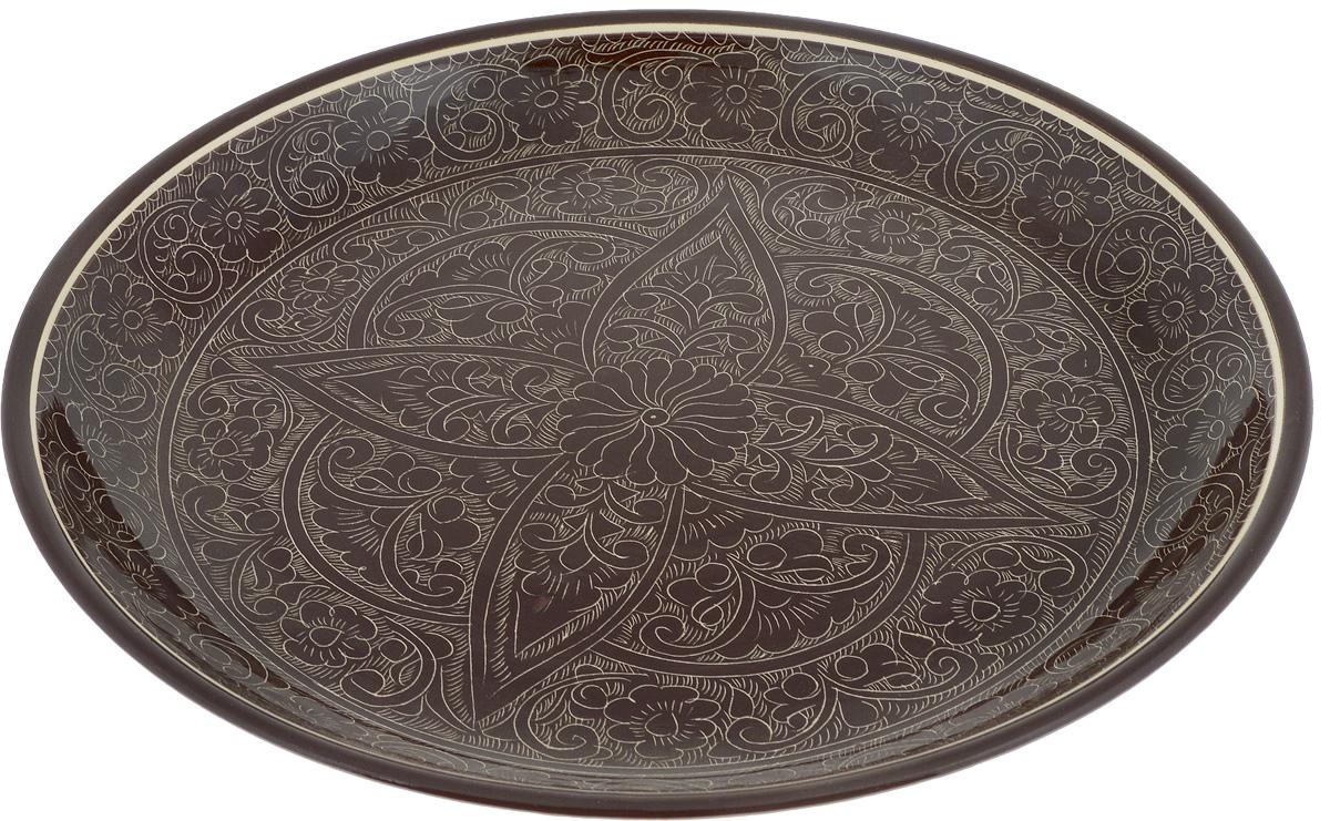 Ляган Sima-land Риштан, диаметр 37 см1224583Ляган Sima-land Риштан, выполненный из высококачественной керамики, отлично подойдет для подачи плова или фруктов. Такой элемент посуды является предметом национальной узбекской посуды. Ляган прекрасно подходит как для торжественных случаев, так и для повседневного использования. Он прекрасно оформит стол и станет отличным дополнением к вашей коллекции кухонной посуды.
