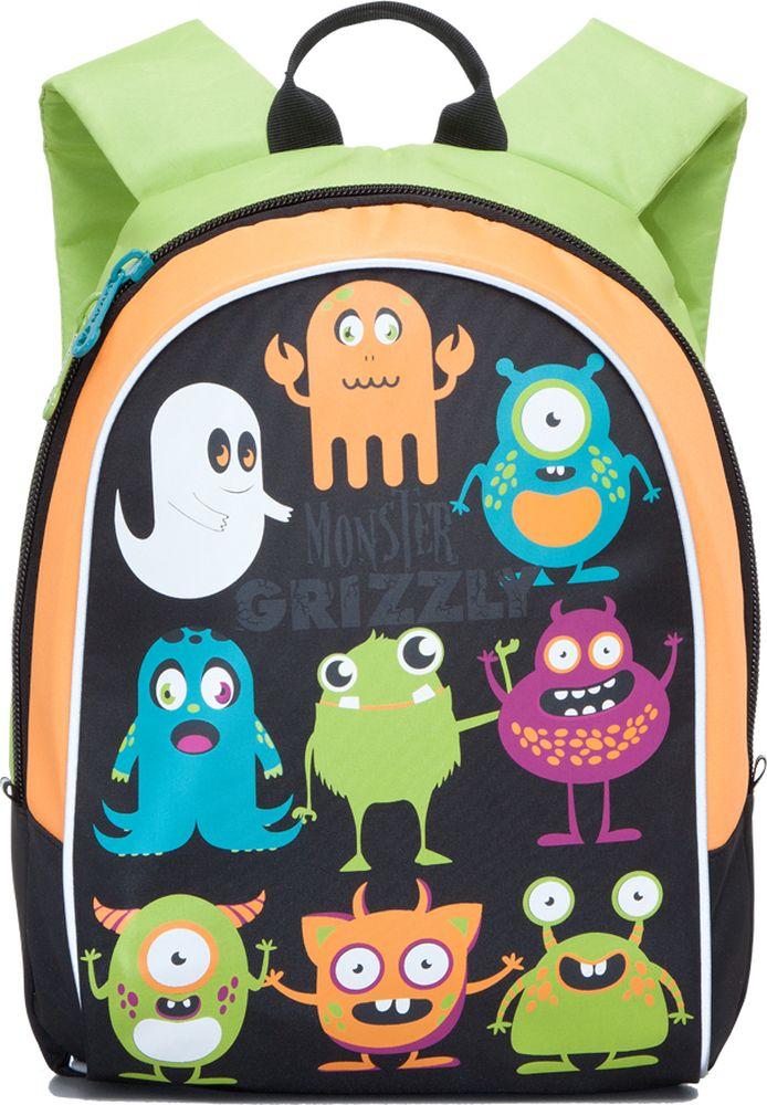 Grizzly Рюкзак детский Монстры цвет черныйRB-628-1/3Детский рюкзак Grizzly Монстры сочетает в себе современный дизайн, функциональность и долговечность. Рюкзак выполнен из прочного материала, что позволяет ему верно служить долгое время. Изделие оформлено яркими изображениями в виде монстриков. Рюкзак содержит одно отделение, закрывающееся на застежку-молнию с двумя бегунками. Внутри отделения имеется открытый кармашек. Мягкие широкие лямки анатомической формы повторяют естественный изгиб плечевого пояса, обеспечивая комфортную посадку рюкзака и свободу движений. Светоотражающие элементы имеют высокие светоотражающие свойства во всех направлениях и при различных углах к источникам освещения, что обеспечивает безопасность в темное время суток. Этот рюкзак можно использовать для повседневных прогулок, учебы, отдыха и спорта, а также как элемент вашего имиджа. Рекомендуемый возраст: от 11 лет.