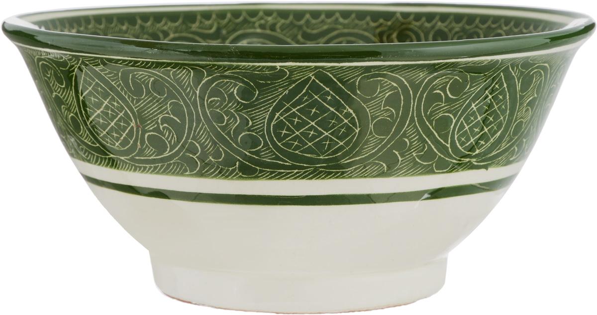 Салатник Sima-land Риштан, цвет: зеленый, диаметр 18 см1233213Элегантный салатник Sima-land Риштан, изготовленный из высококачественной керамики, прекрасно подойдет для подачи различных блюд: закусок, салатов или фруктов. Такой салатник украсит ваш праздничный или обеденный стол, а оригинальное исполнение понравится любой хозяйке.