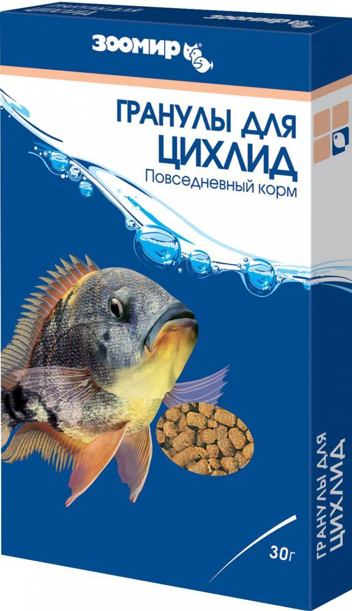 Корм для цихлид Зоомир Гранулы Для Цихлид, 30 г534Высококачественный корм в виде плавающих гранул для цихлид и других пресноводных тропических рыб, содержащий богатые белком вещества. В рационе большинства цихлид (даже плотоядных) значительная доля приходится на растительную пищу, поэтому в состав этих гранул введены компоненты растительного происхождения, а наличие в них гаммаруса, мотыля и креветочной муки не только повышает питательную ценность корма, но и придает ему особую привлекательность. Корм отличается высокой усвояемостью, повышает аппетит, укрепляет здоровье и улучшает окраску рыб. Состав: гаммарус, артемия, мотыль, мука рыбная, мука креветочная, смесь трав, мука пшеничная, морские водоросли, соевый белок, пророщенные семена злаковых и бобовых растений, растительные волокна, спирулина, витаминный комплекс.