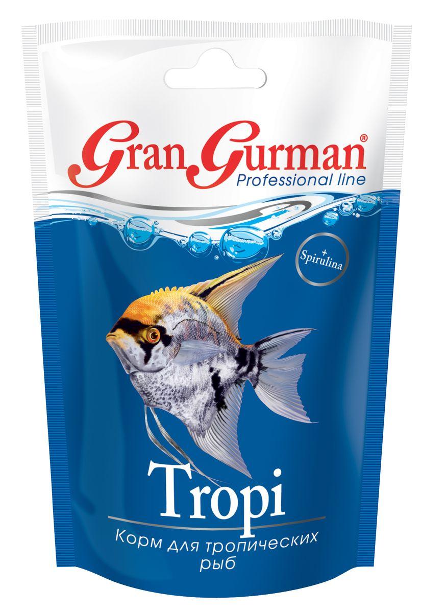 Корм для тропических рыб Gran Gurman Tropi, 30 г570Профессиональный корм высшего качества. Полнорационный гранулированный корм (плавающие и медленно тонущие гранулы) для ежедневного кормления большинства тропических аквариумных рыб, независимо от того, в каком слое воды они предпочитают добывать корм. Богат растительными и животными белками, легко и полностью усваивается. Содержит каротиноиды природного происхождения, жизненно важные витамины и минеральные вещества, необходимые для здоровья и проявления естественной яркой окраски. Входящая в состав корма спирулина нормализует обмен веществ и укрепляет иммунитет рыб, а пробиотик и энтеросорбент обеспечивают правильное пищеварение. Уникальная технология изготовления корма гарантирует его обеззараживание и сохранение важнейших пищевых свойств исходных компонентов. Состав: мелкие ракообразные, креветки, рыбные продукты, пшеничная мука, кукурузная мука, пророщенные семена злаковых и бобовых культур, спирулина, пивные дрожжи, морские водоросли, лецитин, энтеросорбент, витаминный комплекс,...