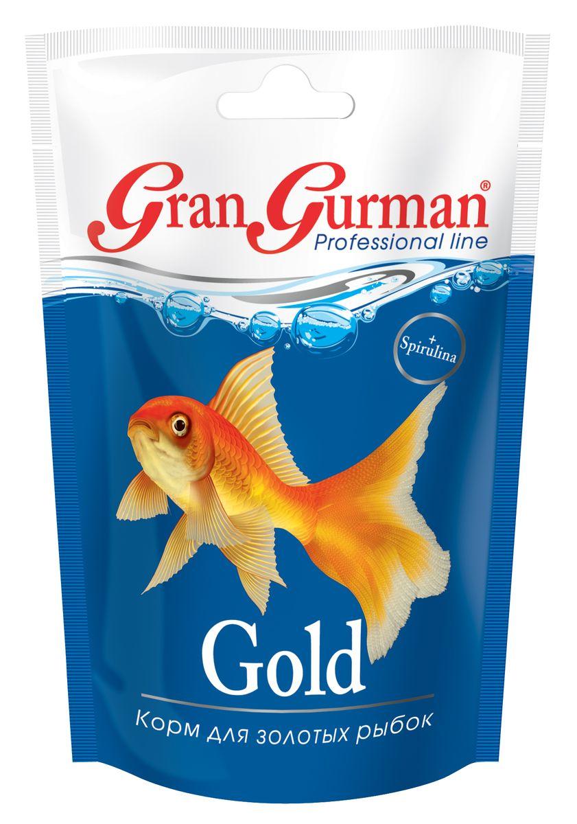Корм для золотых рыбок Gran Gurman Gold, 30 г571Профессиональный корм высшего качества. Полнорационный гранулированный корм (плавающие и медленно тонущие гранулы) для ежедневного кормления золотых рыбок. Содержит легко и полностью усваиваемые белки с необходимыми рыбкам незаменимыми аминокислотами. Каротиноиды природного происхождения, жизненно важные витамины и минеральные вещества обеспечат рыбкам здоровье и великолепную яркую окраску. Входящие в состав корма пробиотик и энтеросорбент способствуют правильному пищеварению, а спирулина – нормальному обмену веществ и укреплению иммунитета. Применение уникальной технологии гарантирует обеззараживание корма и сохранение важнейших пищевых свойств исходных компонентов. Состав: мелкие ракообразные, рыбные продукты, пшеничная мука, кукурузная мука, соевый белок, смесь трав, пророщенные семена злаковых и бобовых культур, спирулина, пивные дрожжи, морские водоросли, лецитин, витаминный комплекс, энтеросорбент, пробиотик (специальные бактерии Субтилис), витамин Е в качестве антиоксиданта.