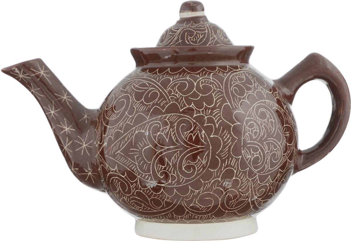 Чайник заварочный Sima-land Риштан, 1 л1233226Заварочный чайник Sima-land Риштан изготовлен из высококачественной керамики и оформлен ярким рисунком. Такой чайник идеально подойдет для заваривания чая. Он хорошо держит температуру, что способствует более полному раскрытию цвета, аромата и вкуса чайного букета. Изделие прекрасно дополнит сервировку стола к чаепитию и станет его неизменным атрибутом. Диаметр (по верхнему краю): 8,5 см. Высота чайника (без учета крышки): 12,5 см.