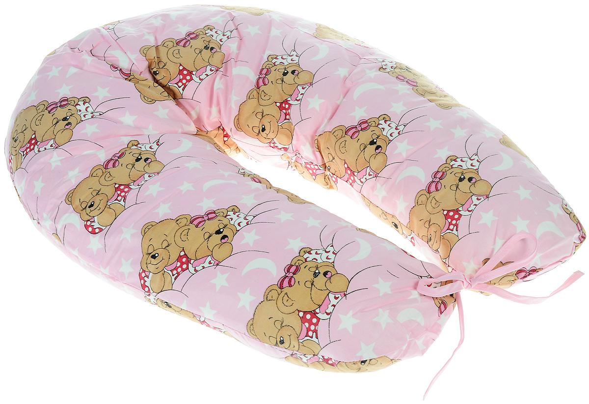 Фэст Подушка для беременных и кормящих мам Спящие мишки цвет розовый4603500131869Подушка для беременных и кормящих мам Фэст Спящие мишки создана именно для будущих мам с учетом всех анатомических особенностей в этот период. Подушка имеет форму подковы. Она позволяет принять удобное положение во время сна, отдыха на больших сроках беременности и кормления грудничка. При кормлении грудью подушка помогает уменьшить нагрузку на руки, плечи и шею. Для поддержания ребенка в разных положениях и защиты его от падения, расположите малыша в центре подушки. Оформлено изделие ярким рисунком с изображением очаровательных мишек. Чехол подушки выполнен из 100% хлопка и снабжен застежкой-молнией, что позволяет без труда снять и постирать его. Перед применением рекомендуется постирать наволочку. Поставляется подушка в сумке-чехле. Советы по уходу: ручная или машинная стирка при температуре воды не выше 40 °C, не отбеливать, химическая чистка запрещена, гладить при средней температуре, сушка в барабане запрещена.