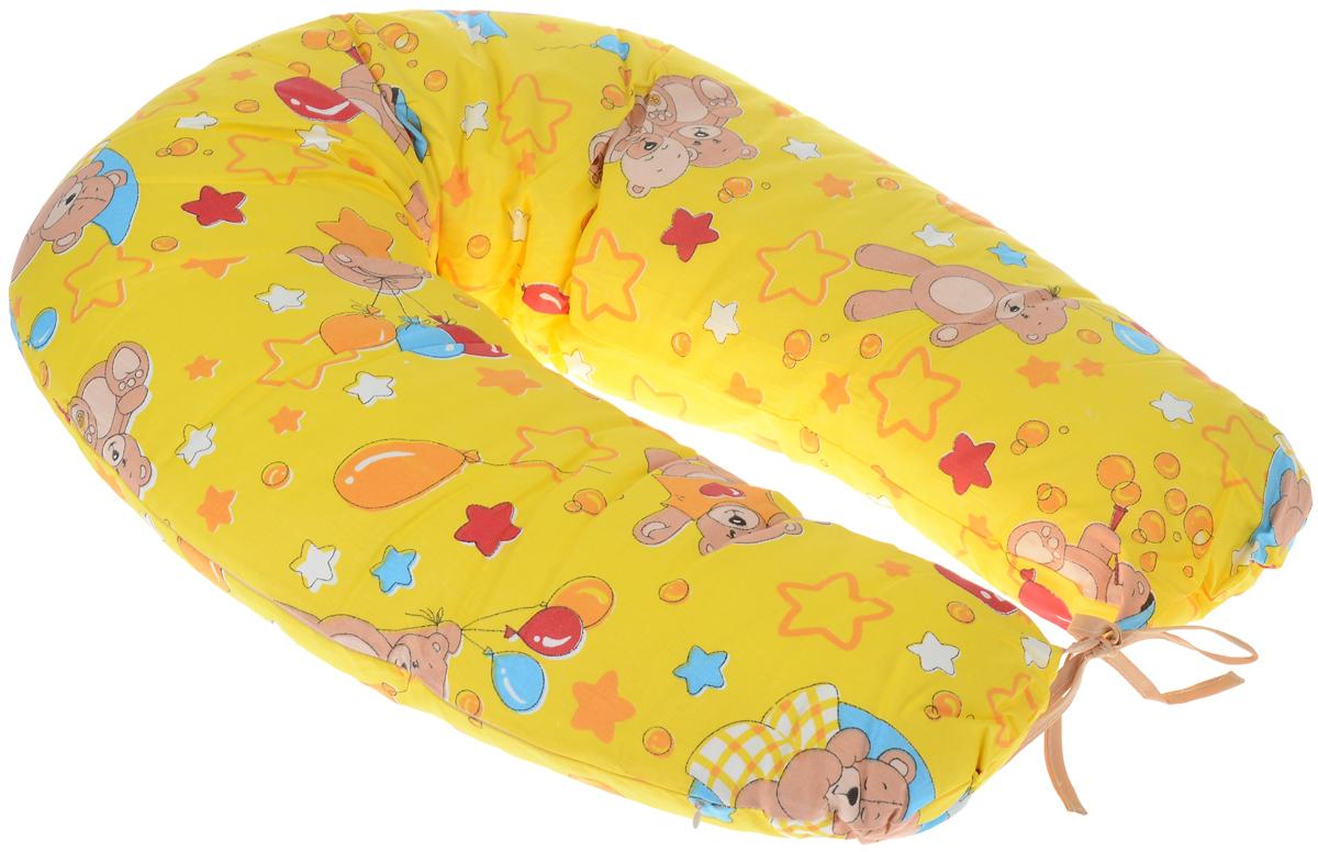 Фэст Подушка для беременных и кормящих мам МишкиПодушка многофункциональнПодушка для беременных и кормящих мам Фэст Мишки - многофункциональная подушка, обеспечивающая комфорт мамы и малыша. В период беременности ее удобно использовать, подкладывая под живот или спину. Для уменьшения нагрузки на спину, плечи, руки и шею во время кормления расположите подушку вокруг талии. Для поддержания ребенка в разных положениях и зашиты его от падения следует поместить малыша в центр подушки. Чехол подушки выполнен из 100% хлопка и снабжен застежкой-молнией, что позволяет без труда снять и постирать его. Поставляется подушка в сумке-чехле. Советы по уходу: ручная или машинная стирка при температуре воды не выше 40 °C, не отбеливать, химическая чистка запрещена, гладить при средней температуре, сушка в барабане запрещена. Подушка для кормящих и беременных мам Фэст Мишки - это удобная и практичная вещь, которая прослужит вам долгое время.