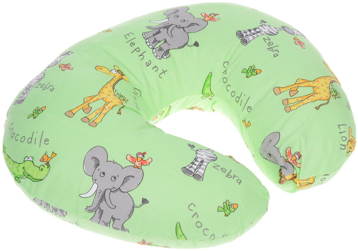 Спортбэби Подушка для кормления цвет салатовый 50 см х 45 смсп.0001_Салатовый_жираф/слонБольшая и удобная подушка Спортбэби сделает процесс кормления максимально комфортным и для мамы, и для малыша. Удобная форма подушки в виде подковы позволяет расположить ее вокруг талии, тем самым ослабить нагрузку на спину и руки. Подушка выполнена из экологически чистого и безопасного материала. На такую подушку удобно класть ребенка во время кормления из бутылочки и с ложечки, а также при переодевании и просто для отдыха - ему будет уютно, как в гнездышке, и он никуда не скатится. Когда ребенок подрастет, он с удовольствием будет сидеть и играть на этой подушке, как в кресле. Наволочка на молнии, благодаря чему ее можно снимать и стирать. УВАЖАЕМЫЕ КЛИЕНТЫ! Обращаем ваше внимание на возможные изменения в цветовом дизайне рисунка. Поставка осуществляется в зависимости от наличия на складе.