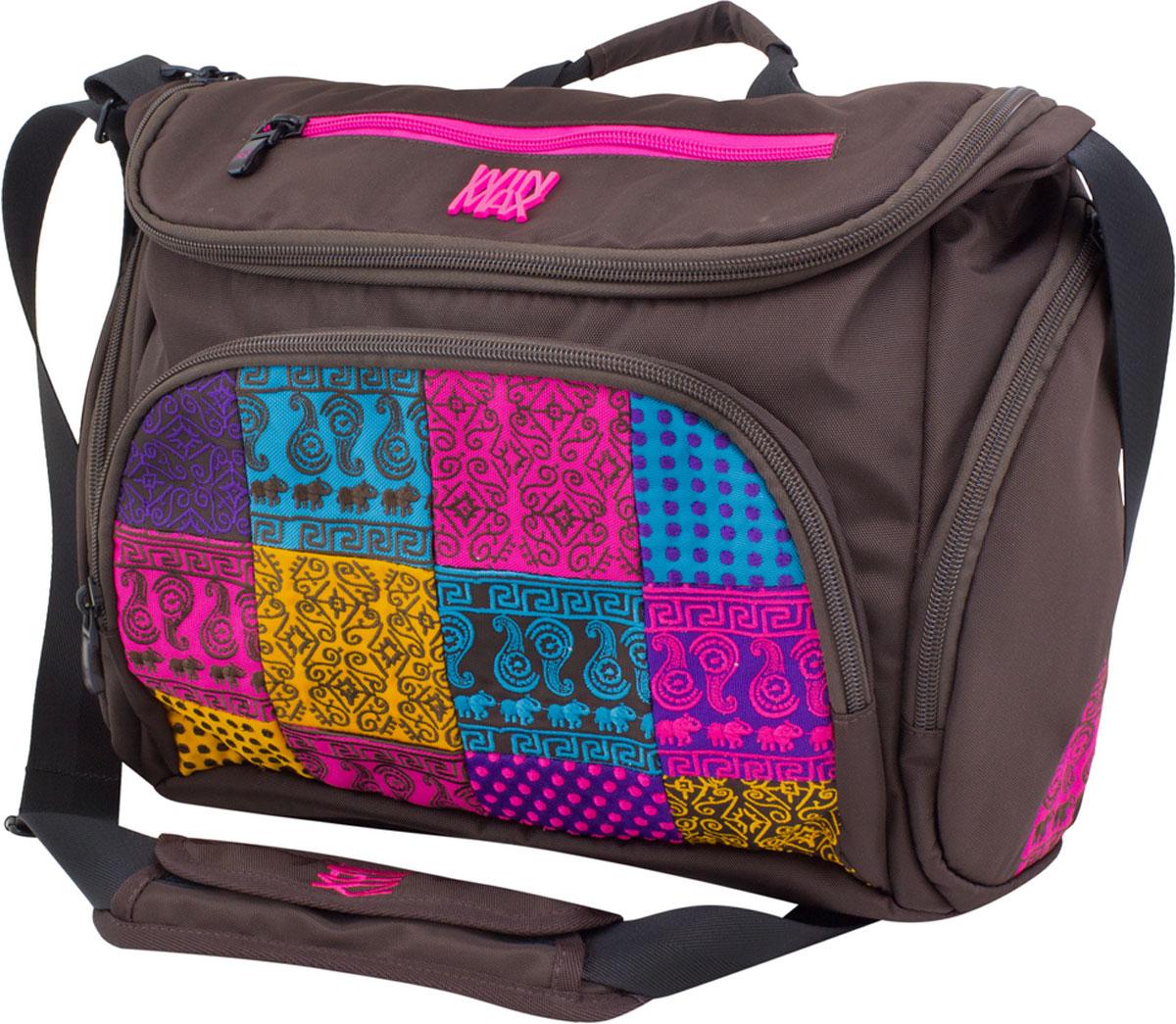 WinMax Сумка школьная цвет коричневый D-035D-035_коричневыйСумка с верхним клапаном на молнии, украшена шелковой вышивкой, - это маленькое произведение искусства. Каждая ниточка с любовью вписана в общий орнамент, а яркие и неоновые цвета ниток делают его модным и стильным. Качественный, легкий и прочный материал делает сумку практичной и долговечной в носке. Такая сумка будет настоящей изюминкой среди вашего гардероба и выгодно подчеркнет ваш прекрасный вкус!!!Отделения: 1) Центральное отделение, в котором расположен отсек для ноутбука диагональю 13,3, для наилучшей сохранности вашего ПК, данный отсек на подкладке из мягкого материала, на другой стороне большой карман с липучкой. 2) Второе отделение расположено на задней части сумки, около ручки.Карманы: Два боковых кармана на молнии Передний центральный карман, в котором расположено отделения под канцелярию (органайзер) с карманами под сотовые и документы. На переднем верхнем клапане карман на молнии.В комплекте: Бирка с индивидуальным штрих кодом и описанием. Имеет ряд качественных и...