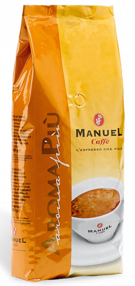 Manuel Aroma Piu кофе в зернах, 1 кг8006536000103Manuel Aroma PIU в зернах – яркий представитель кофейного ассортимента итальянской марки Manuel, в состав которого входят 40 % отборной арабики и 60 % высококачественной робусты. Кофе не обладает ярко выраженными кислотностью и горечью, имеет высокую пенку, плотное тело и устойчивое шоколадное послевкусие. Хорошо подходит для приготовления в автоматических кофемашинах.