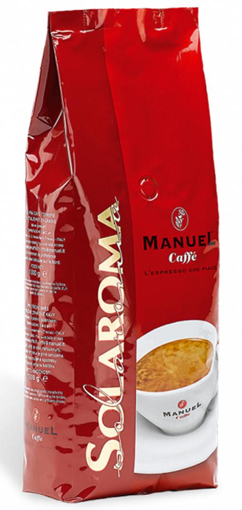 Manuel Solaroma кофе в зернах, 1 кг8006536000097Для создания смеси кофе Manuel Solaroma в зернах используются высококачественная арабика и робуста, которая смешивается в процентном соотношении 60% на 40%. Он буквально создан для любителей сбалансированного кофе, не обладает ярко выраженными кислотностью и горечью, имеет высокую устойчивую пенку. Manuel Solaroma обладает плотным телом, устойчивым шоколадным послевкусием и хорошо подходит для приготовления в автоматических кофемашинах.