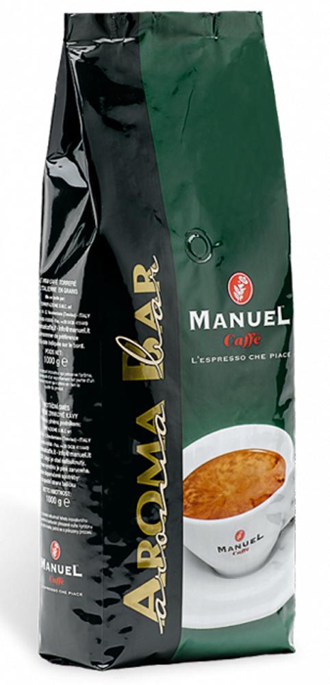Manuel Aroma Bar кофе в зернах, 1 кг8006536000127Кремовая смесь кофе Manuel Aroma Bar достигает своего хорошо сбалансированного вкуса благодаря содержанию кофе сорта Арабика, таким образом, чтобы всем его ароматом можно было наслаждаться в каждом глотке. Обладает насыщенным ароматом с устойчивым послевкусием.