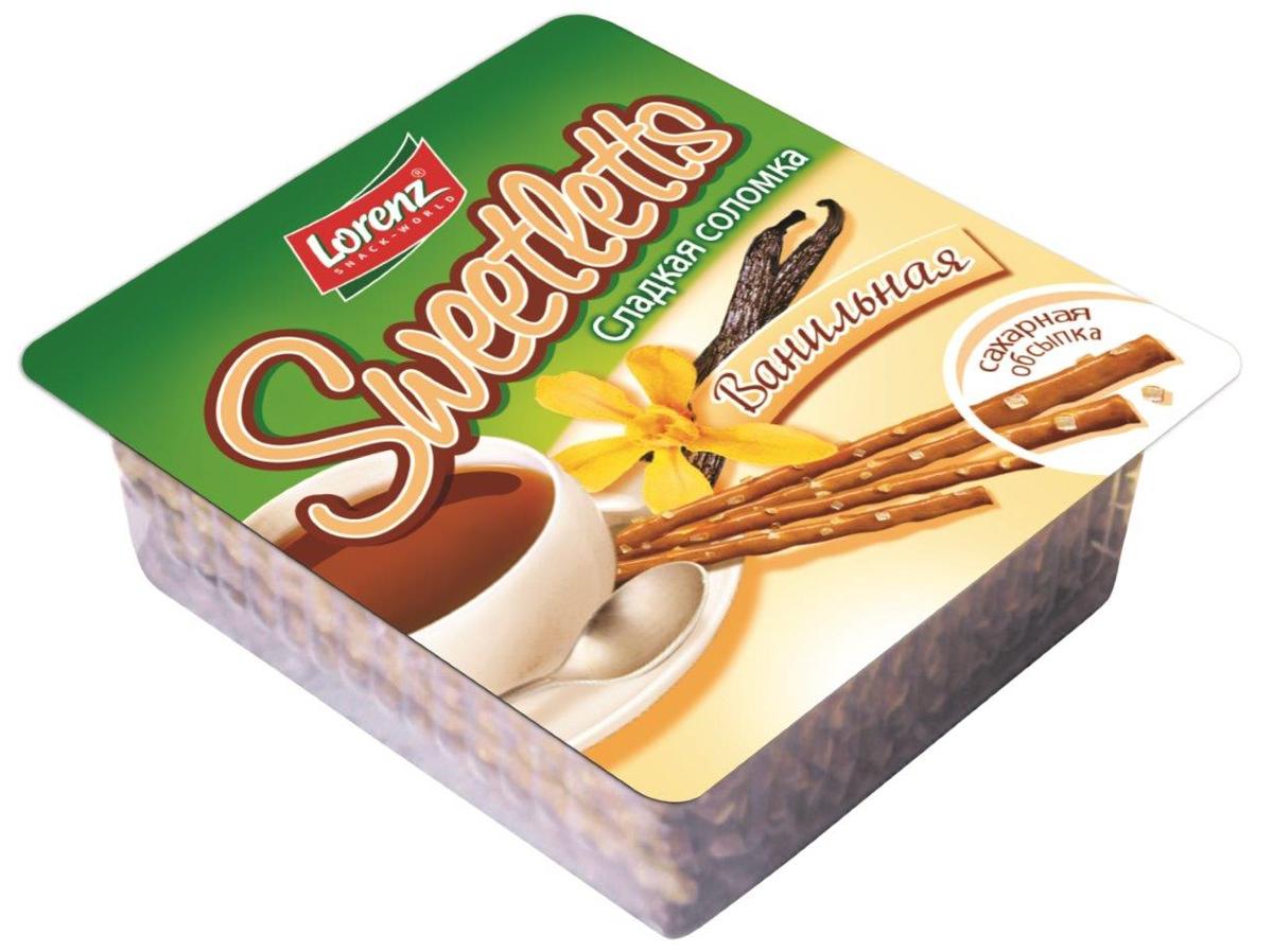 Lorenz Sweetletts соломка сладкая ванильная, 150 г