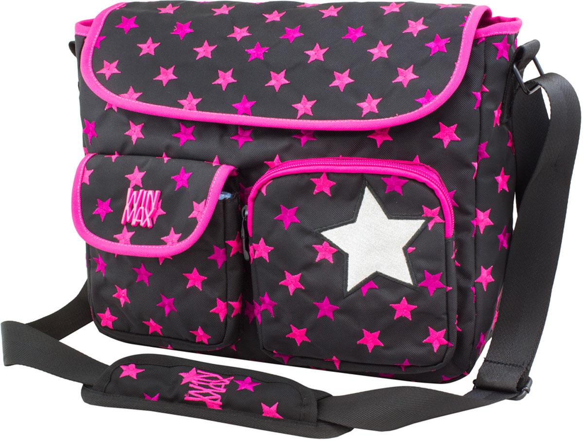 WinMax Сумка школьная цвет черный розовыйD-036_чер/розСумка с клапаном, украшена россыпью шелковой вышивки в виде звезд, - это совершенно удивительная по качеству и красоте сумка. Эта модель имеет что-то свое особенное и красивое. Берешь в руки и понимаешь – вот настоящая ручная работа, а неоновые цвета ниток делают ее очень и очень стильной. Эта модель не только красива и оригинальна, но также очень практична и удобна. Благодаря качественному, легкому и прочному материалу, сумка долговечна в носке, а множество отделений поможет разместить все необходимые вещи школьницы. Если вы ищите, что-то совершенно необычное по стилю, оригинальное и качественное, советуем обратить внимание на нее.Отделения: 1-е Центральное отделение разделено на два отдела молниями в первом один карман на молнии, во втором два кармана-сетки. 2-е отделение расположено на передней части сумки, в котором имеется органайзер под канцелярию и карманы под сотовые и документы.Карманы: Одни на передней части, на молнии. Второй на передней части под клапаном. Третий на...
