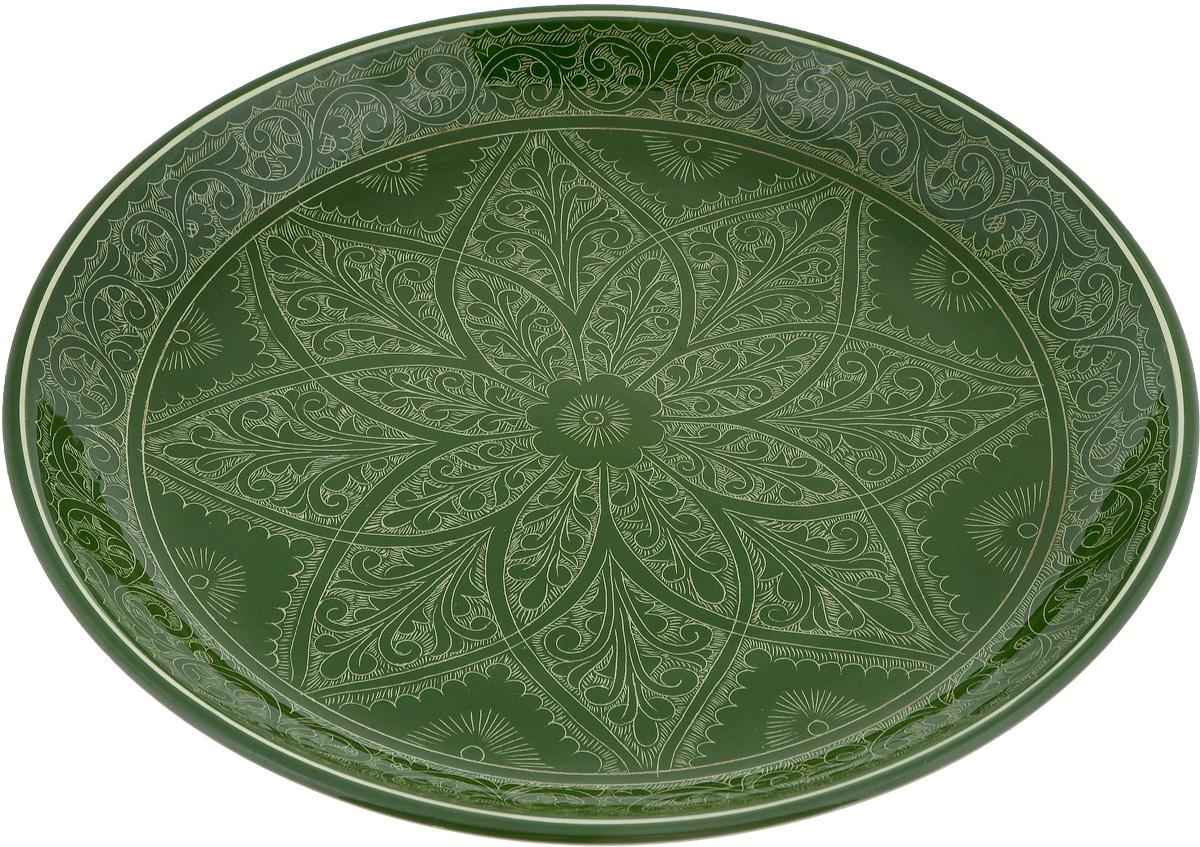 Ляган Риштан, цвет: зеленый, диаметр 37 см1233208