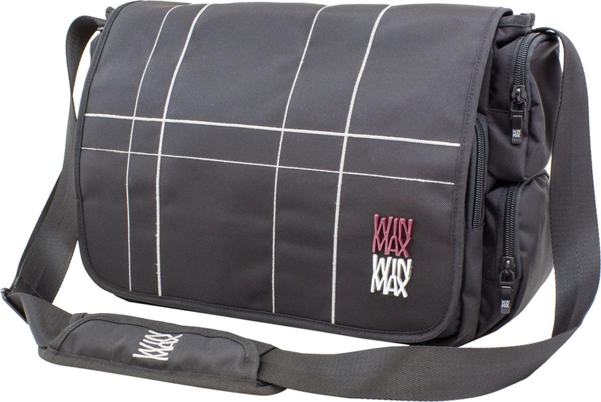 WinMax Сумка школьная цвет черный серый D-073D-073_чер/серСумка с клапаном, украшена шелковой вышивкой, - это исключительная и неповторимая деталь, которая моментально обращает на себя внимание. Качественный, легкий и прочный материал делает сумку практичной и долговечной в носке. Если вы ищите, что-то совершенно необычное по стилю, оригинальное и качественное, советуем обратить внимание на него.Отделения: 1-е Центральное с отделением под клапаном разделено на два отдела молниями в первом два кармана-сетки, во втором свободное место без разделов. 2-е отделение на передней части сумки под клапаном, в котором расположено отделения под канцелярию (органайзер) с карманами под сотовые и документы.Карманы: Два боковых нижних кармана на молнии. Два боковых верхних кармана на молнии. На задней стороне сумки - большой карман на молнии. В комплекте: Бирка с индивидуальным штрих кодом и описанием. Имеет ряд качественных и удобных деталей. • Качественные молнии фирмы SBS • Вся фурнитура на ремне выполнена из прочного железа. • Плечевая...