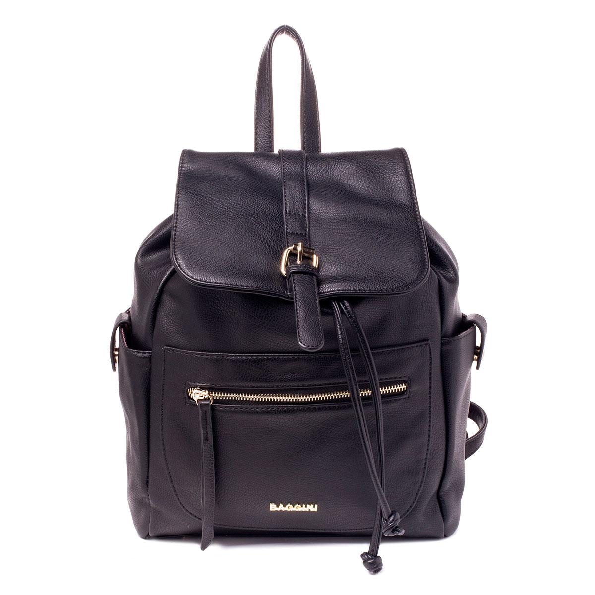 Сумка-рюкзак женская Baggini, цвет: черный. 29719/1029719/10Рюкзак жен., иск. кожа