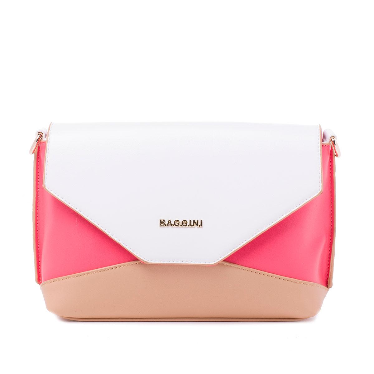Сумка женская Baggini, цвет: розовый. 29802/6329802/63Сумка жен., иск. кожа