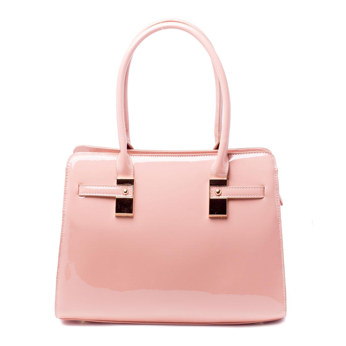 Сумка женская Baggini, цвет: розовый. 35605/6335605/63Стильная женская сумка Baggini выполнена из искусственной кожи. Изделие содержит одно отделение и закрывается на застежку-молнию. Внутри расположены два накладных кармана, врезной карман на застежке-молнии и карман-средник на молнии. Задняя сторона сумки дополнена врезным карманом на молнии. Сумка оснащена двумя удобными ручками средней высоты. Дно сумки дополнено металлическими ножками.