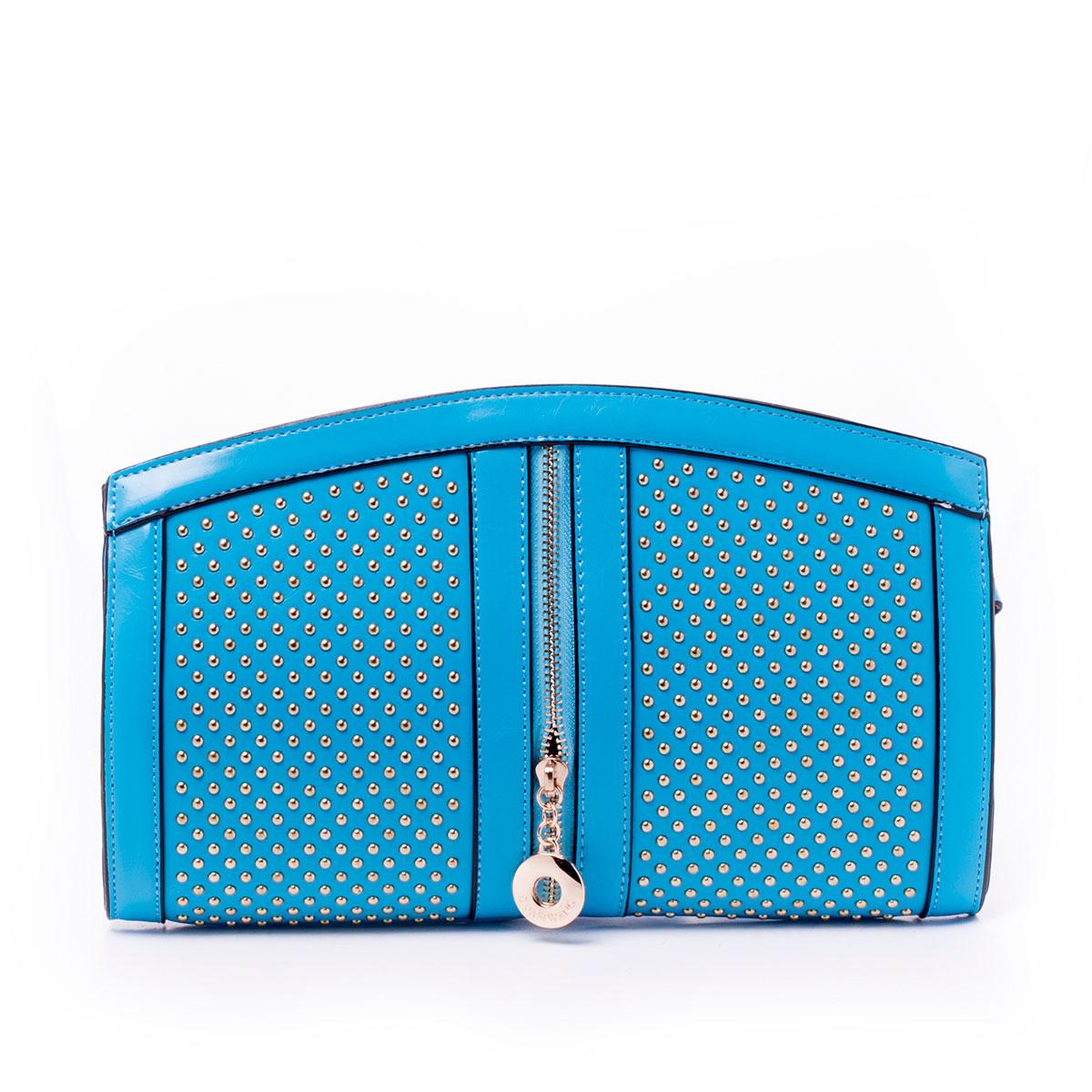 Сумка женская Guanwang, цвет: голубой. 640307-1/40640307-1/40Сумка жен., иск. кожа