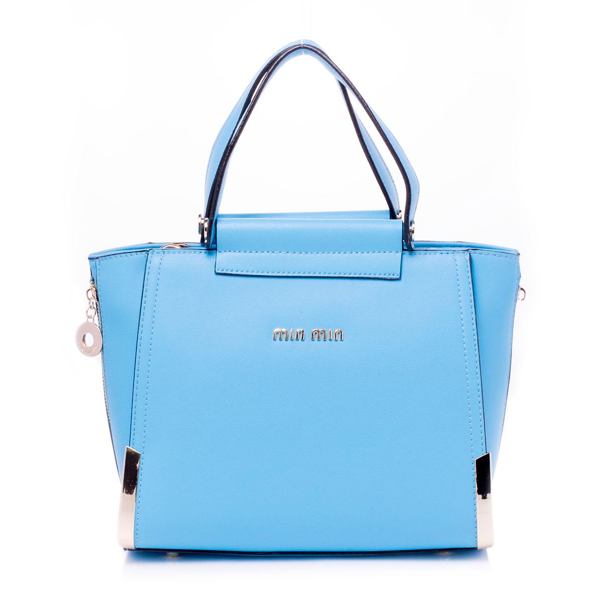 Сумка женская Guanwang, цвет: голубой. 650145-1/40650145-1/40Сумка жен., иск. кожа