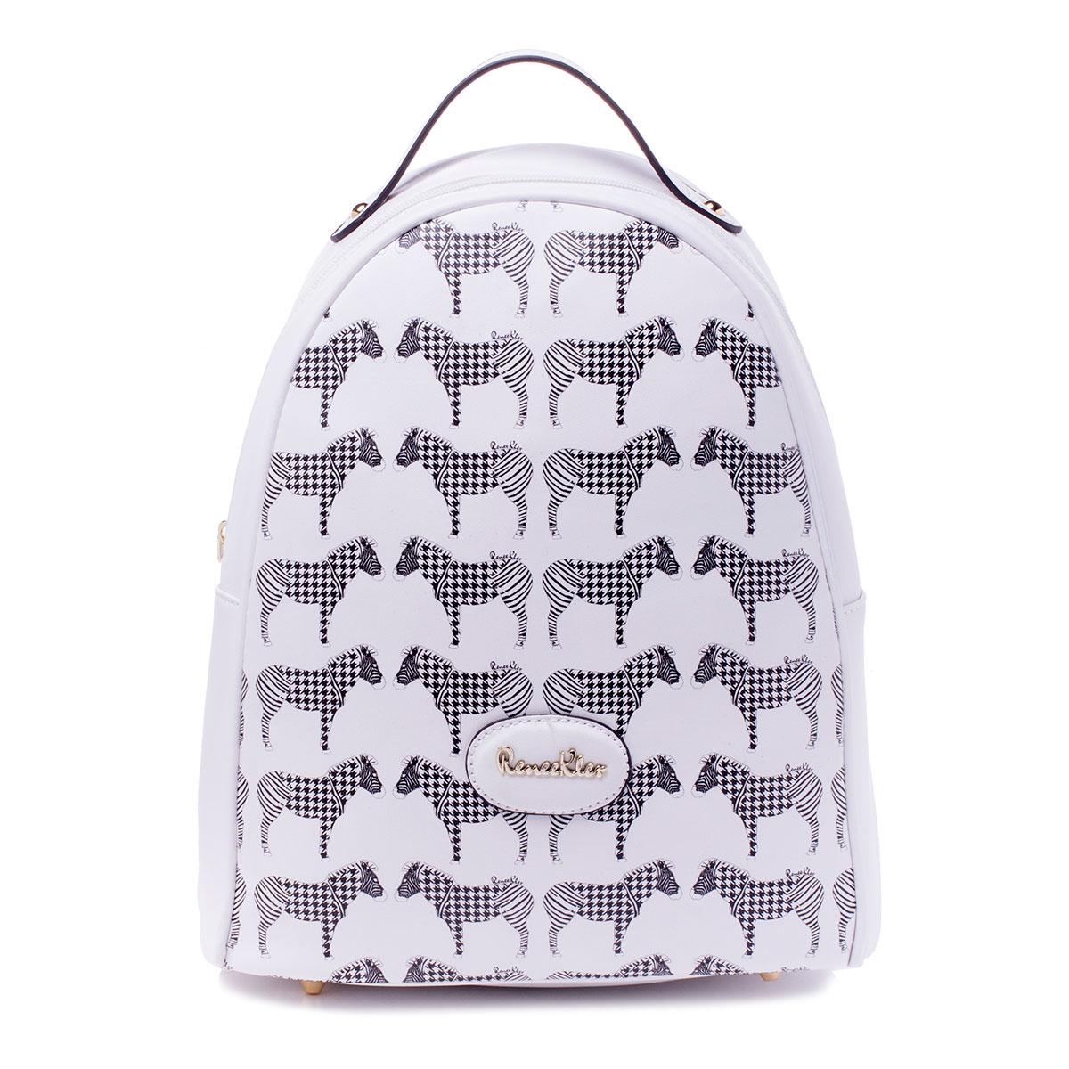 Сумка-рюкзак женская Renee Kler, цвет: белый. RK487-02RK487-02Рюкзак жен., иск. кожа