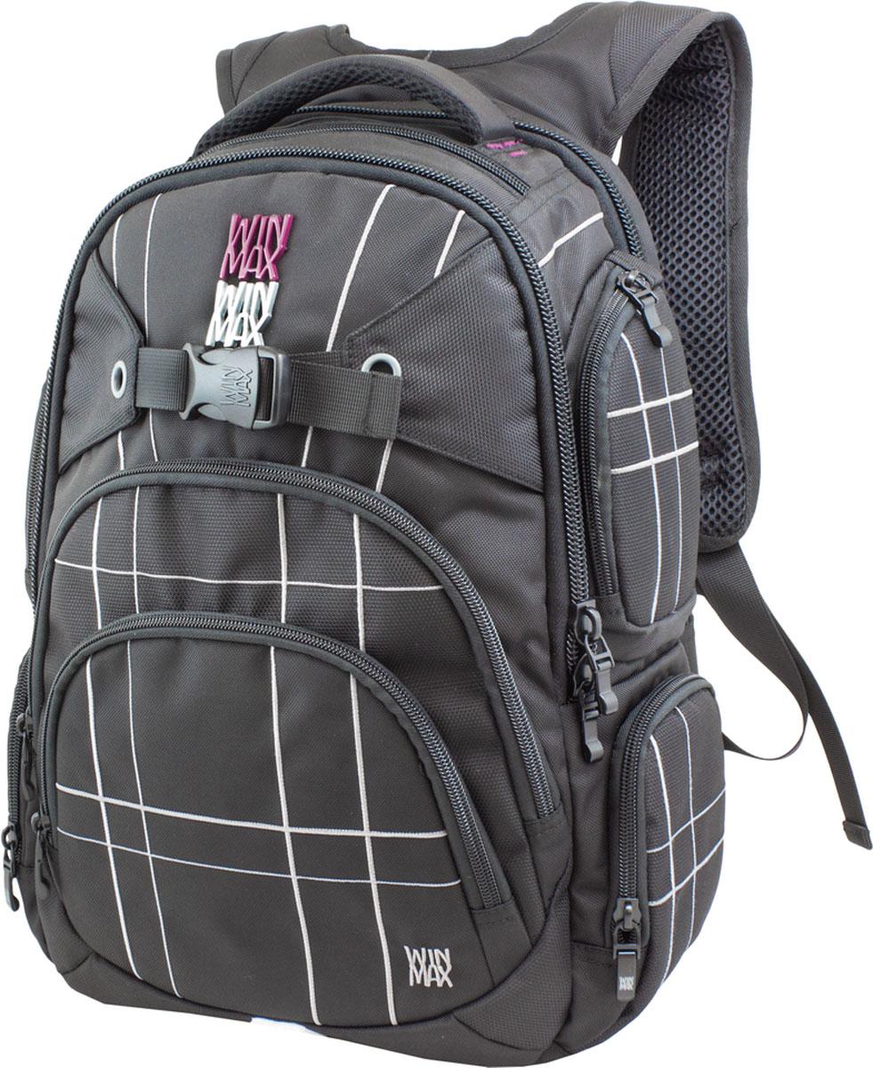 WinMax Школьный ранец K-507, цвет: черный, серыйK-507_чер/серРюкзак, украшенный шелковой вышивкой, - это исключительная и неповторимая деталь, которая моментально обращает на себя внимание. Качественный, легкий и прочный материал делает рюкзак практичным и долговечным в носке. Если вы ищите, что-то совершенно необычное по стилю, оригинальное и качественное, советуем обратить внимание на него.Отделения: В рюкзаке три отделения, 1) В первом (у спинки) отделение, расположен отсек для ноутбука диагональю 13,3 – 14, для наилучшей сохранности вашего ПК, данное отделения на подкладке из мягкого материала + карман-сетка для хранения аксессуаров от ПК. 2) Во втором (основном) по обеим сторонам карман-сетка. 3) В третьем расположено отделение под канцелярию. Карманы: Четыре боковых кармана на молнии (по два на каждую сторону) + один передний на молнии + верхний на молнии.В комплекте: • Бирка с индивидуальным штрих кодом и описанием. Имеет ряд качественных и удобных деталей. • Качественные молнии фирмы « SBS » + фирменные бегунки и фурнитура. •...