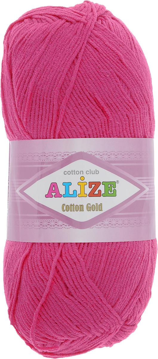Пряжа для вязания Alize Cotton Gold, цвет: фуксия (149), 330 м, 100 г, 5 шт697548_149Пряжа для вязания Alize Cotton Gold - это классическая демисезонная пряжа из хлопка с акрилом. Данная пряжа отлично подойдет для изделий осень-весна. Также подходит для вязания летних вещей взрослым и детям. Мягкая и бархатистая на ощупь. Полотно получается пластичным, мягким, все переплетения ровные. Состав: 55% хлопок, 45% акрил. Рекомендуемый размер спиц: № 3,5 - 5. Рекомендуемый размер крючка: № 2 - 4.