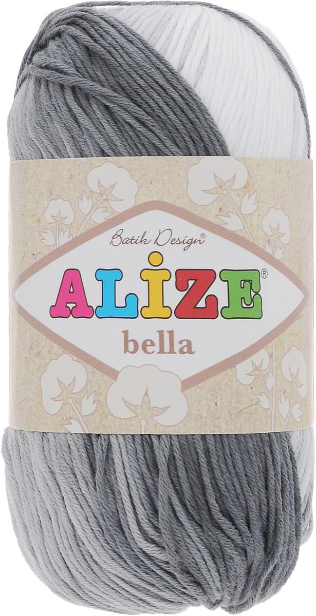 Пряжа для вязания Alize Bella Batik, цвет: белый, серый, светло-серый (2905), 180 м, 50 г, 5 шт364125_2905Пряжа Alize Bella Batik подходит для ручного вязания детям и взрослым. Пряжа секционного крашения, мягкая и приятная на ощупь, хорошо лежит в полотне. Мягкая и красивая нить в процессе вязания превращается в оригинальный узор. Состав: 100% хлопок. Рекомендованные спицы 2-4 мм и крючок для вязания 1-3 мм. Комплектация: 5 мотков.