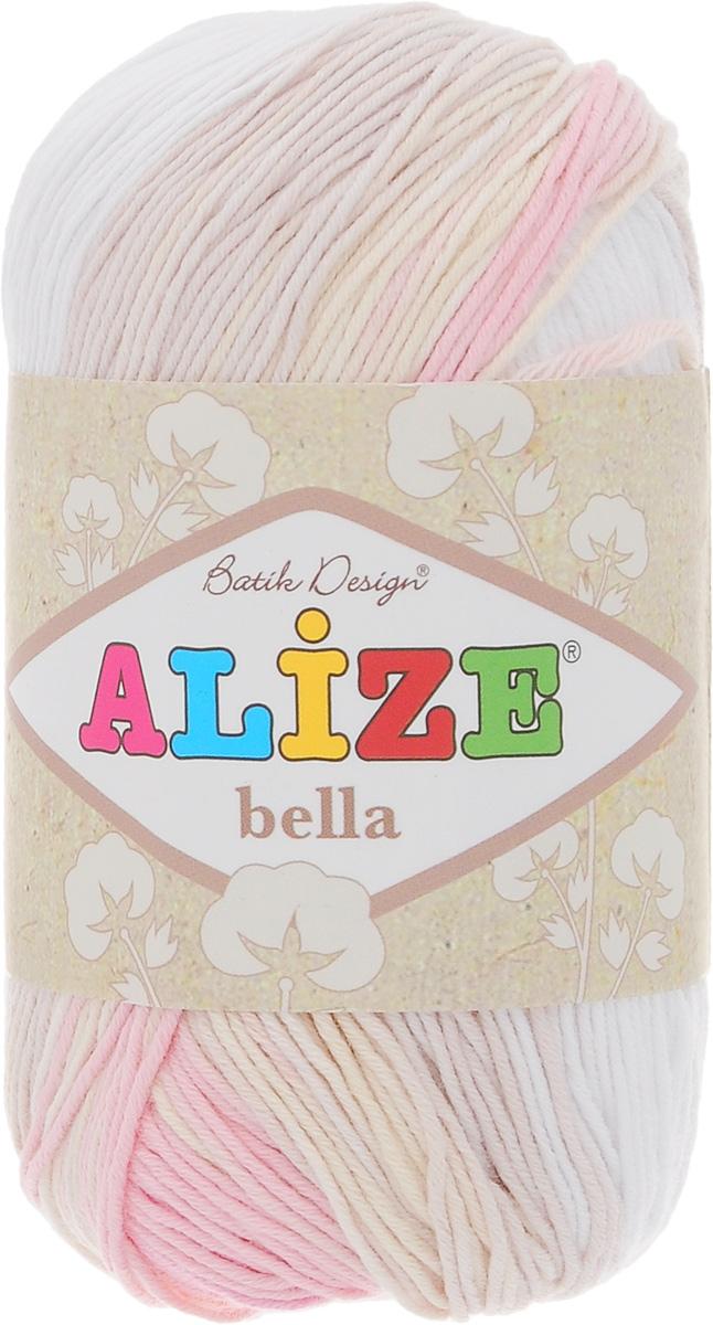 Пряжа для вязания Alize Bella Batik, цвет: бежевый, розовый, белый (2807), 180 м, 50 г, 5 шт364125_2807Пряжа Alize Bella Batik подходит для ручного вязания детям и взрослым. Пряжа секционного крашения, мягкая и приятная на ощупь, хорошо лежит в полотне. Мягкая и красивая нить в процессе вязания превращается в оригинальный узор. Состав: 100% хлопок. Рекомендованные спицы 2-4 мм и крючок для вязания 1-3 мм. Комплектация: 5 мотков.