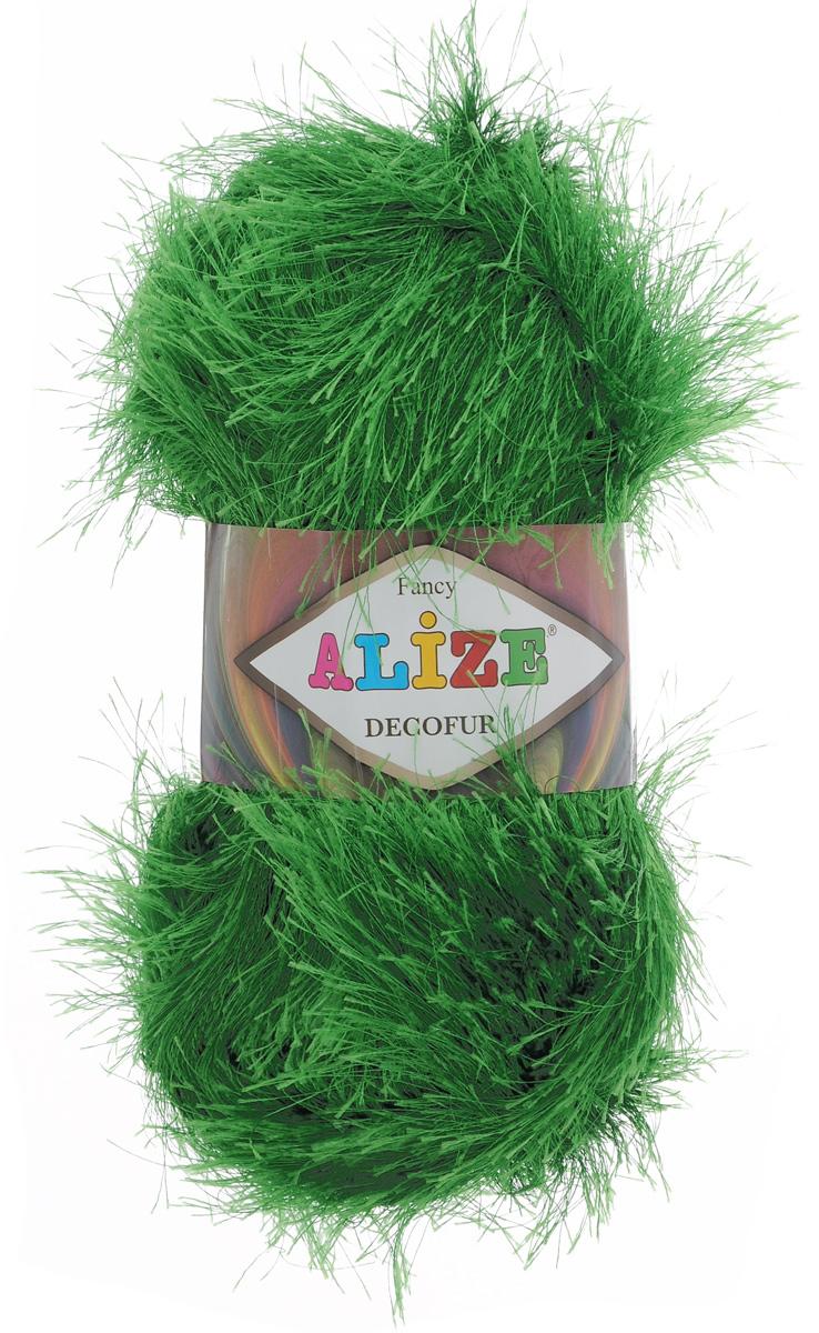 Пряжа для вязания Alize Decofur, цвет: ярко-зеленый (595), 110 м, 100 г, 5 шт364128_595Пряжа Alize Decofur изготовлена из высококачественного полиэстера. Пряжа - травка используется как для вязания самостоятельных пушистых изделий, так и для отделки. Это могут быть нарядные кофточки, куртки, накидки, шарфы, шапки, шали, предметы домашнего интерьера, игрушки и многое другое. Рекомендованные спицы для вязания: 6-8 мм. Рекомендованный крючок для вязания: 3-4 мм. Комплектация: 5 шт. Состав: 100% полиэстер.
