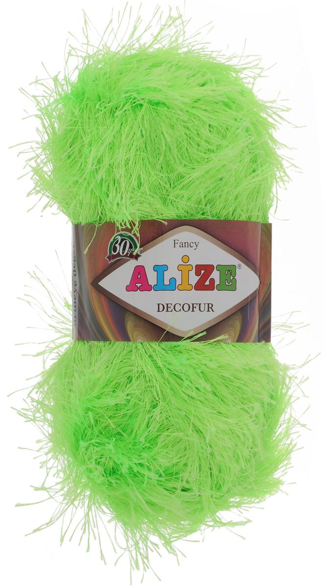 Пряжа для вязания Alize Decofur, цвет: зеленый неон (551), 110 м, 100 г, 5 шт364128_551Пряжа Alize Decofur изготовлена из высококачественного полиэстера. Пряжа - травка используется как для вязания самостоятельных пушистых изделий, так и для отделки. Это могут быть нарядные кофточки, куртки, накидки, шарфы, шапки, шали, предметы домашнего интерьера, игрушки и многое другое. Рекомендованные спицы для вязания: 6-8 мм. Рекомендованный крючок для вязания: 3-4 мм. Комплектация: 5 шт. Состав: 100% полиэстер.