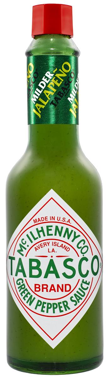 Зеленый перечный соус Tabasco особенно порадует любителей мексиканской кухни. Густой соус изумрудного цвета, приготовленный из отборных спелых перцев халапеньо (jalapeno), обладает ярко выраженным перечным вкусом, но он более мягкий по сравнению с красным перечным соусом табаско. Зеленый перечный соус придает приятный вкус и аромат пище, не приглушая другие вкусовые оттенки, его можно использовать в больших количествах, не опасаясь, что блюда станут слишком острыми. Соус великолепен как заправка для салатов и компонент для производства сложных соусов, идеален с супами, пиццей, яйцами, пастой, птицей, рыбой, морепродуктами, блюдами мексиканской кухни. Он вполне заменяет соевый соус, томатный соус, чеснок, ворчестерширский (вустерский) соус, черный и душистый перец, паприку. Это прекрасный маринад для говядины, птицы, рыбы.