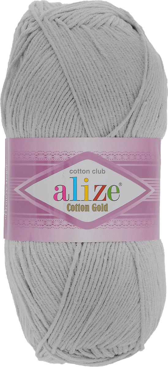 Пряжа для вязания Alize Cotton Gold, цвет: светло-серый (200), 330 м, 100 г, 5 шт697548_200Пряжа для вязания Alize Cotton Gold - это классическая демисезонная пряжа из хлопка с акрилом. Данная пряжа отлично подойдет для изделий осень-весна. Также подходит для вязания летних вещей взрослым и детям. Мягкая и бархатистая на ощупь. Полотно получается пластичным, мягким, все переплетения ровные. Состав: 55% хлопок, 45% акрил. Рекомендуемый размер спиц: № 3,5 - 5. Рекомендуемый размер крючка: № 2 - 4.