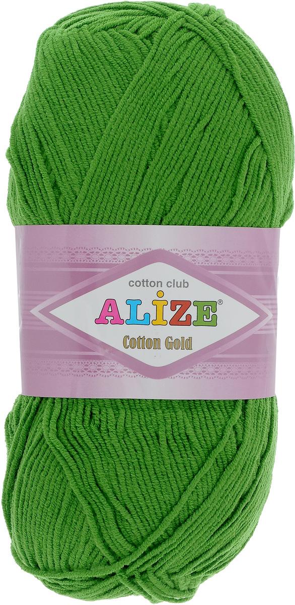 Пряжа для вязания Alize Cotton Gold, цвет: зеленая трава (126), 330 м, 100 г, 5 шт697548_126Пряжа для вязания Alize Cotton Gold - это классическая демисезонная пряжа из хлопка с акрилом. Данная пряжа отлично подойдет для изделий осень-весна. Также подходит для вязания летних вещей взрослым и детям. Мягкая и бархатистая на ощупь. Полотно получается пластичным, мягким, все переплетения ровные. Состав: 55% хлопок, 45% акрил. Рекомендуемый размер спиц: № 3,5 - 5. Рекомендуемый размер крючка: № 2 - 4.