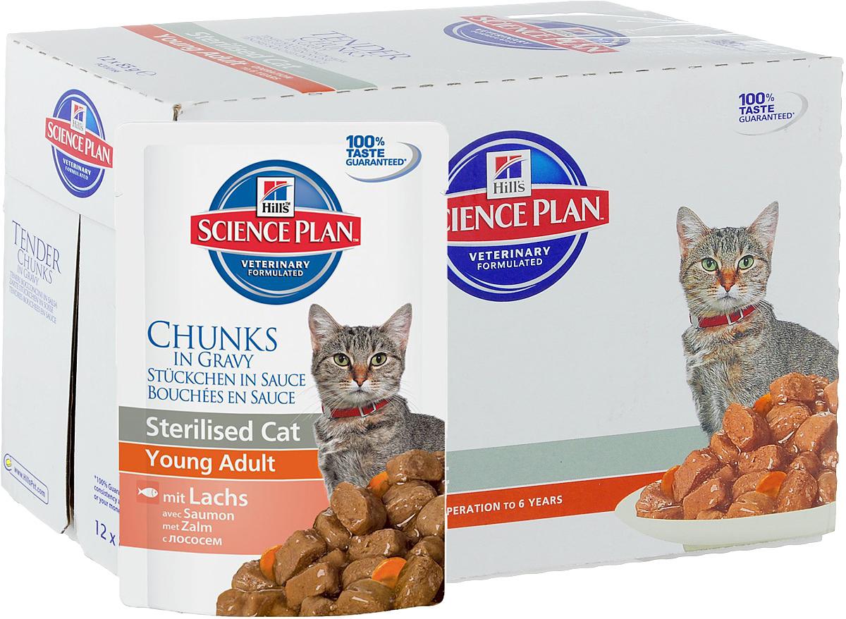 Консервы Hills Sterilised Cat Young Adult для стерилизованных кошек до 6 лет, с лососем, 85 г, 12 шт1942_12Стерилизованные кошки в три раза более склонны к набору лишнего веса и образованию камней в мочевом пузыре. Консервы Hills Sterilised Cat Young Adult способствует гармоничному развитию и удовлетворяет специфические потребности стерилизованных кошек. Содержит комплекс антиоксидантов с клинически подтвержденным эффектом и уникальную формулу контроля веса. Ключевые преимущества: Уникальная формула контроля веса способствует сжиганию жира и укреплению мышц Контролируемые уровни минералов для поддержания здоровья мочевыводящих путей Легко усваиваемые ингредиенты для оптимального всасывания Ингредиенты высокого качества. 100% гарантии качества, консистенции и вкуса. Состав: мясо и пептиды животного происхождения, зерновые злаки, рыба и рыбные производные, экстракты растительного белка, производные растительного происхождения, различные виды сахаров, минералы, овощи, яйцо и его производные, масла и жиры. Анализ: белок 7,9%,...