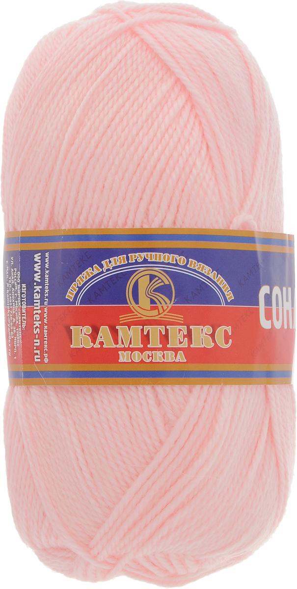Пряжа для вязания Камтекс Соната, цвет: розовый (055), 250 м, 100 г, 10 шт136030_055Пряжа для вязания Камтекс Соната изготовлена из 50% шерсти, 50% акрила. Она вяжется легко и свободно, имеет богатую цветовую гамму от теплых пастельных тонов до ярких и смелых оттенков. Ворсистая ниточка ровно складывается в полотно, которое имеет минимальный процент усадки. Из пряжи Соната прекрасно вяжутся теплые туники, жилеты, свитера, платья и многие другие изделия. Рекомендуемые для вязания спицы и крючки 3-5 мм. Состав: 50% шерсть, 50% акрил. Комплектация: 10 шт. Толщина нити: 2 мм.