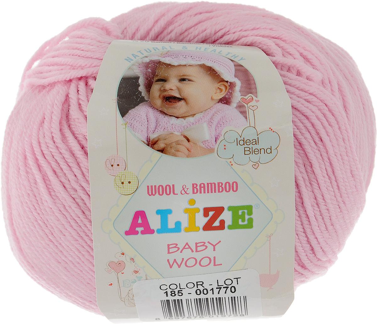Пряжа Baby wool 50 г, 165 м. (20% бамбук, 40% шерсть, 40% акрил)ТУ. 686501_185686501_18520%бамбук, 40%шерсть, 40%акрил