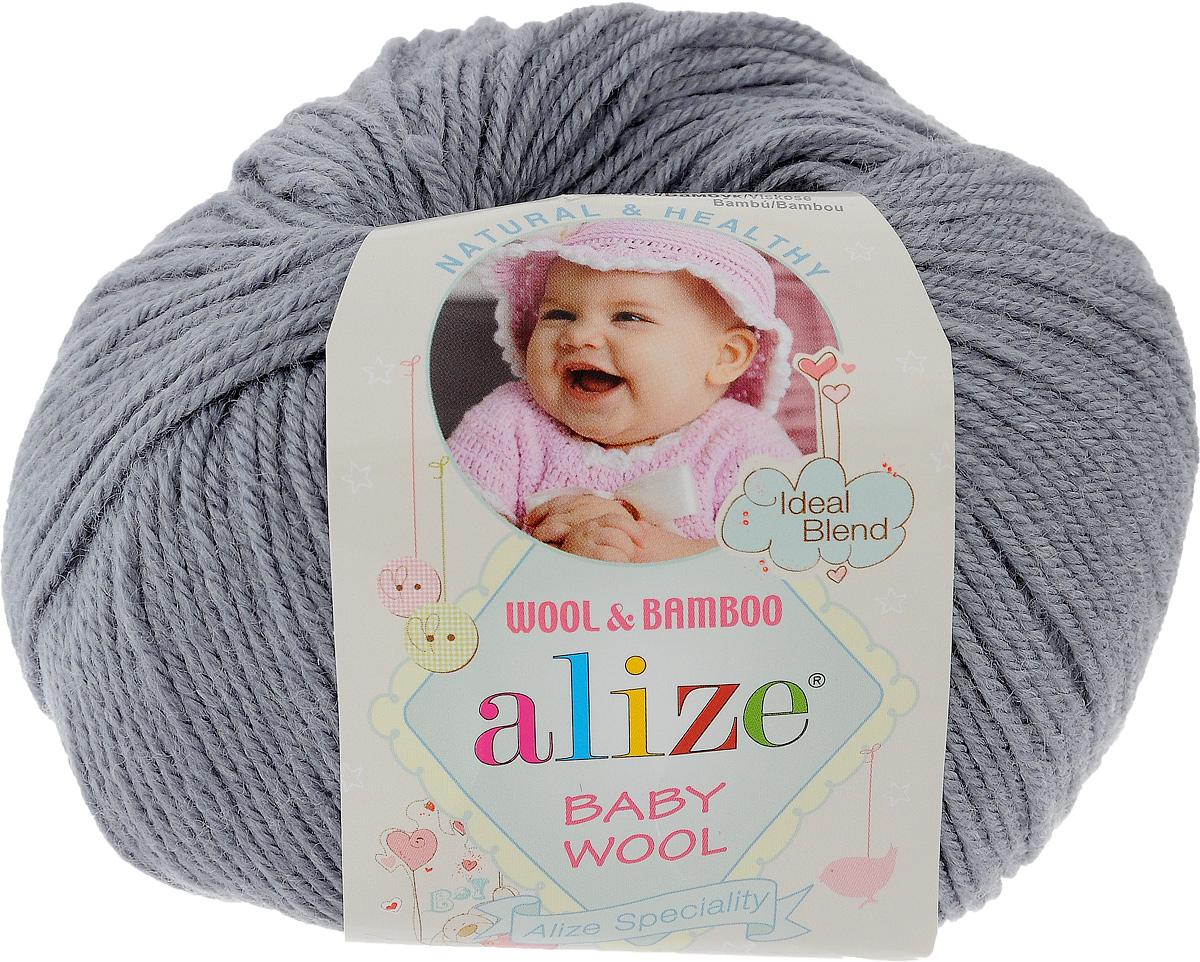 Пряжа для вязания Alize Baby Wool, цвет: серый (119), 175 м, 50 г, 10 шт686501_119Детская пряжа для вязания Alize Baby Wool изготовлена из очень мягкой и высококачественной натуральной шерсти и бамбука. Из пряжи Baby Wool получается тонкий, но очень теплый трикотаж для ребенка. Акрил в составе нитей допускает легкую машинную стирку вещей. Цветовая палитра включает в себя комбинации, которые подходят как для мальчиков, так и для девочек. Рекомендуемый размер спиц: № 2,5-4 мм, Рекомендуемый размер крючка: № 1-3 мм. Комплектация: 10 мотков. Состав: 40% шерсть, 40% акрил, 20% бамбук.