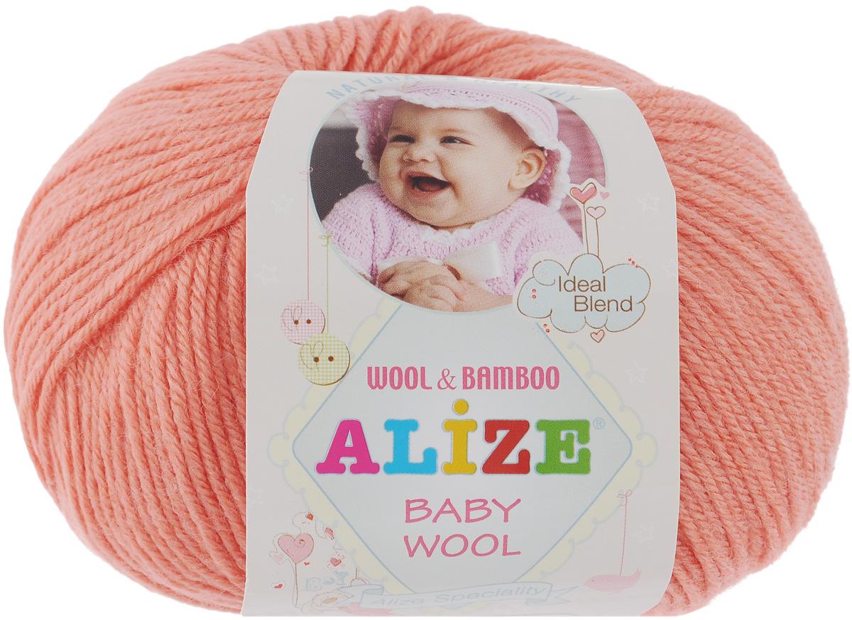 Пряжа для вязания Alize Baby Wool, цвет: персиковый (619), 175 м, 50 г, 10 шт686501_619Детская пряжа для вязания Alize Baby Wool изготовлена из очень мягкой и высококачественной натуральной шерсти и бамбука. Из пряжи Baby Wool получается тонкий, но очень теплый трикотаж для ребенка. Акрил в составе нитей допускает легкую машинную стирку вещей. Цветовая палитра включает в себя комбинации, которые подходят как для мальчиков, так и для девочек. Рекомендуемый размер спиц: № 2,5-4 мм, Рекомендуемый размер крючка: № 1-3 мм. Комплектация: 10 мотков. Состав: 40% шерсть, 40% акрил, 20% бамбук.