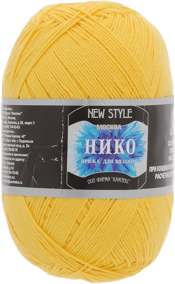 Пряжа для вязания Камтекс Нико, цвет: желтый (104), 500 м, 100 г, 10 шт136099_104Пряжа для вязания Камтекс Нико изготовлена из 100% хлопка. Хлопчатобумажная тонкая нить удивляет своим экономным расходом. Одного мотка вполне хватит на ажурный женский сарафан. Пряжа идеально подходит для вязания летних изделий, ее можно безбоязненно использовать для создания детской одежды. Ниточка имеет хорошую крутку, легка в работе. Такую нить можно использовать даже тем, кто делает свои первые шаги в вязании, полотно всегда будет выглядеть аккуратно. Изделия, связанные из пряжи Камтекс Нико, несмотря на свою пластичность, ноские и формоустойчивые. Камтекс Нико - настоящая находка для рукодельниц, ценящих домашний уют: из этой пряжи создаются очень красивые и качественные скатерти и салфетки. Подходит для вязания на спицах и крючках 1,5-3 мм. Состав: 100% хлопок.