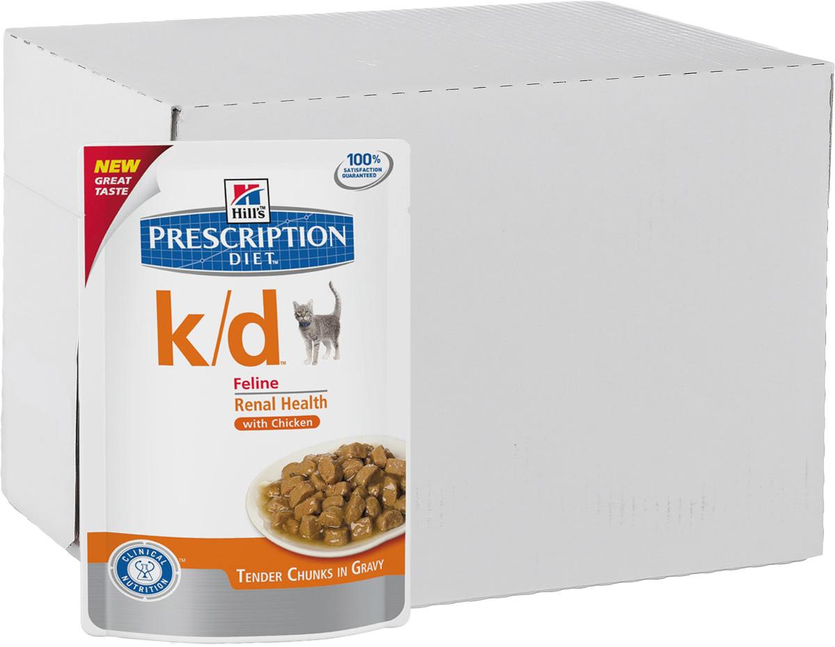 Консервы для кошек Hills Prescription Diet. K/D, при заболевании почек и урологическом синдроме, с курицей, 85 г, 12 шт3405_12Консервы для кошек Hills Prescription Diet. K/D рекомендуются при хронических заболеваниях почек, при заболеваниях сердца, при уратном и цистиновом уролитиазе. Не рекомендуется котятам, беременным и кормящим кошкам, кошкам с дефицитом натрия в организме. В 2-х летнем исследовании клинически доказано что у кошек, питавшихся рационом Hills Prescription Diet k/d Feline, значительно реже отмечались эпизоды уремии и снижался уровень смертности. Ключевые преимущества: - Сниженное содержание фосфора помогает замедлить развитие заболевания почек. - Контролируемое содержание протеина помогает снизить накопление токсичных продуктов белкового обмена, в то же время удовлетворяя потребность организма в протеинах. Уменьшает концентрацию в моче компонентов уратных и цистиновых уролитов. - Повышенное содержание непротеиновых калорий помогает обеспечить поступление энергии и не допускает катаболизма протеинов. - Повышенная буферная емкость...