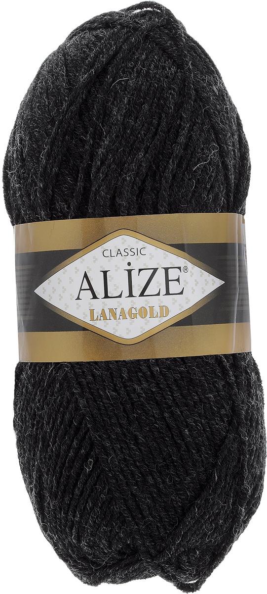 Пряжа для вязания Alize Lanagold, цвет: серо-черный (151), 240 м, 100 г, 5 шт364095_151Alize Lanagold - это полушерстяная пряжа для ручного вязания. Нить плотно скручена, гибкая, послушная, не пушится, не электризуется, аккуратно ложится в петли и не деформируется после распускания. Стойкое равномерное окрашивание обеспечивает широкую палитру оттенков. Соотношение шерсти и акрила - формула практичности. Высокие тепловые характеристики сочетаются с эстетикой и простотой ухода за вещью. Классическая пряжа для зимнего сезона, может использоваться для детской и взрослой одежды. Alize Lanagold - универсальная пряжа, которая будет хорошо смотреться в узорах любой сложности. Рекомендуемый размер спиц: № 4-6 мм. Состав: 49% шерсть, 51% акрил.