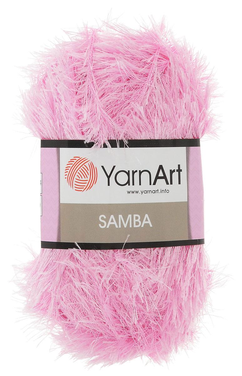 Пряжа для вязания YarnArt Samba, цвет: бледно-сиреневый (2008), 150 м, 100 г, 5 шт пряжа для вязания yarnart baby color цвет белый черный 273 150 м 50 г 5 шт